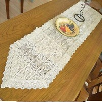 American Country Cotton Lace Crochet Tablecloths Table Flag Towel Continental Home Restaurant Table Ornaments