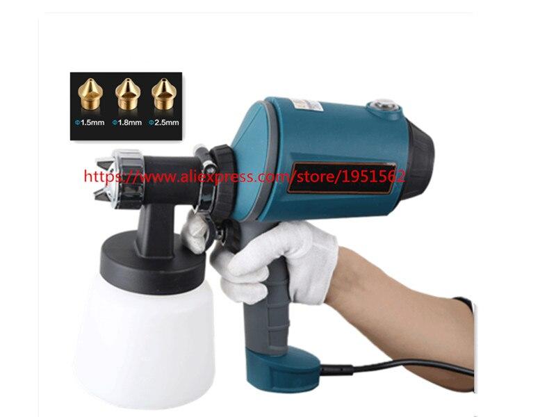 500 Вт/900 мл HVLP электрический пистолет высокого давления эмульсия распылителя краски покрытие краски высокого распыленный краской инструмен...