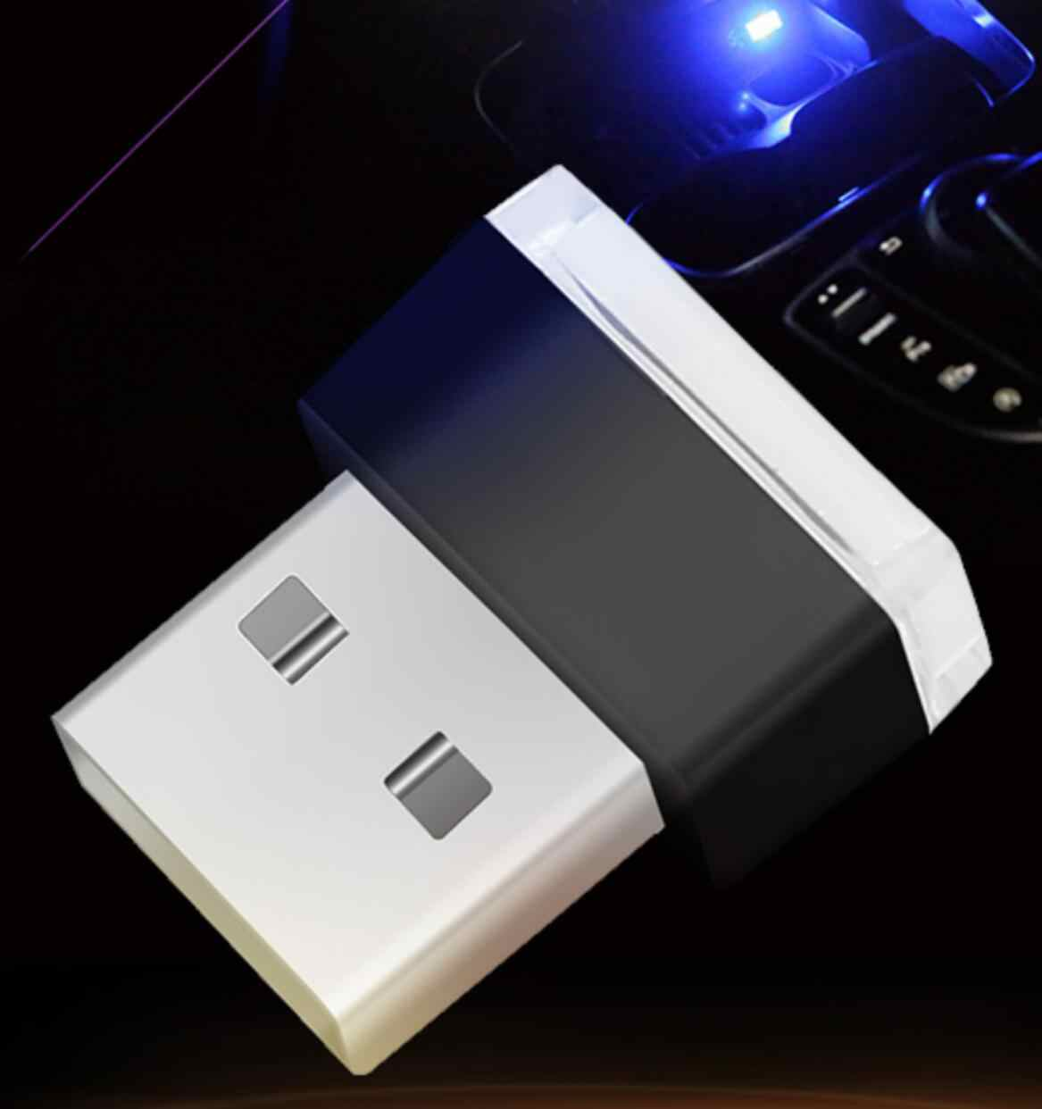 Car styling USB Decorative Lamp Lighting LED Atmosphere Lights Universal PC Portable Plug and Play Red/Blue/White/Green/Plnk
