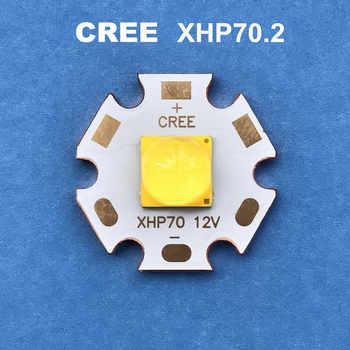 CREE LED xhp70.2 12V6V 30W cree diode lampe de poche 4292LM forte lumière lampe moto lumière vélo lampe frontale ampoule LED
