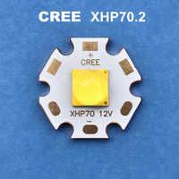 CREE LED xhp70.2 12V6V 30W linterna de diodo cree 4292LM lámpara de luz fuerte, luz de motocicleta, lámpara de cabeza de bicicleta, bombillas led