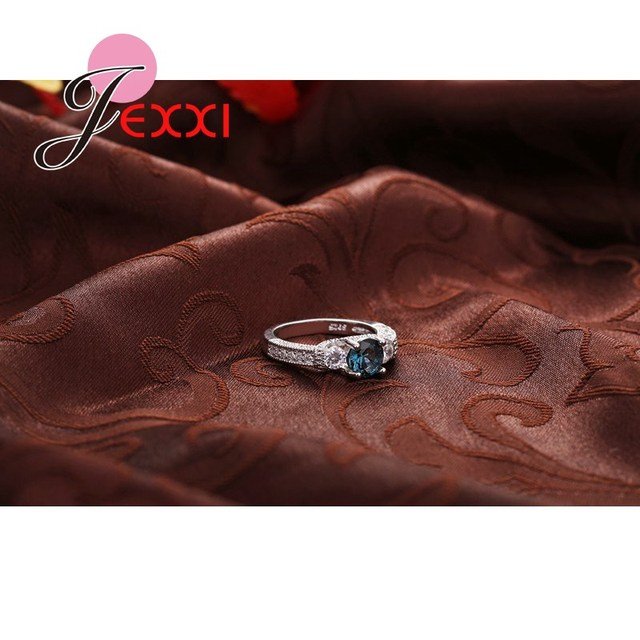 Jemmin Bijoux 925 Sterling Silver Bridal Jewelry Cubic Zirconia Stone Pendant Rings for Women Wedding Party Rings Accessories
