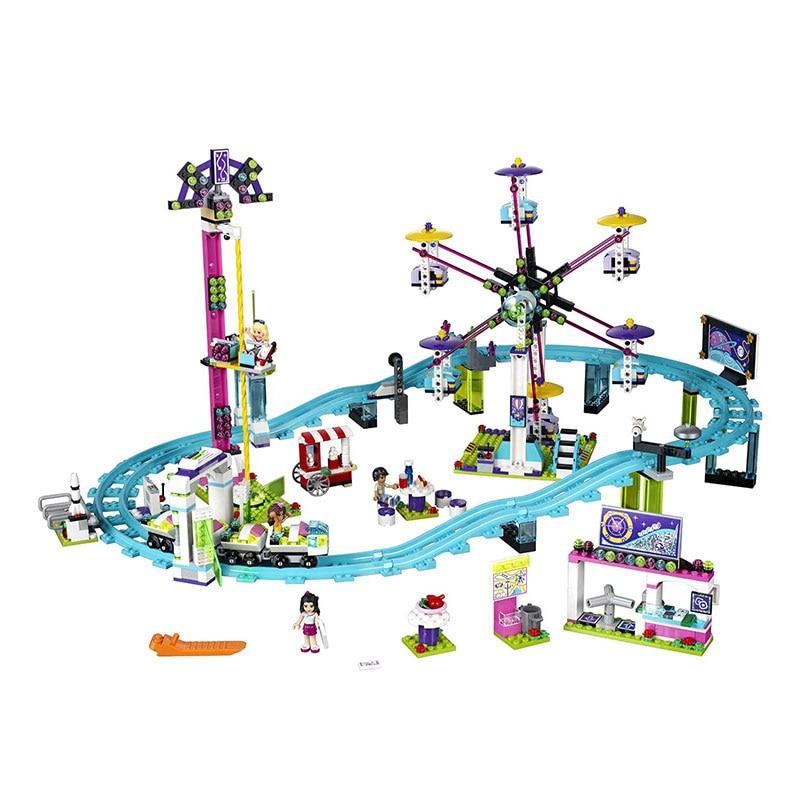 Lepin 01008 Amusement Park Roller Coaster Model Building Kits Compatible legoingly 41130 Blocks Educational Toy Funny Gift все цены