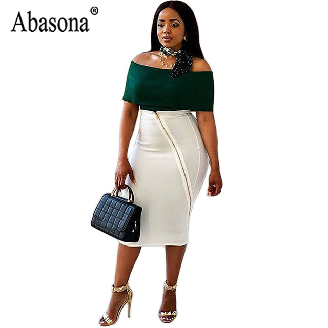 Abasona Womens 2 Piece Set Formal Dress Women Elegant Slash Neck Bodycon  Dress Zipper Midi Dresses For Women Sleeveless Backless 08e5ff557