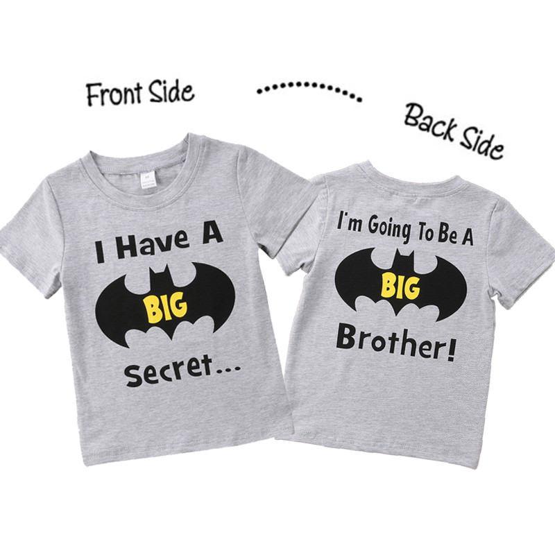 b9edd473 1-6Y Summer Toddler Kids Boys Clothes Summer Short Sleeve Batman Print  Cartoon Big Brother