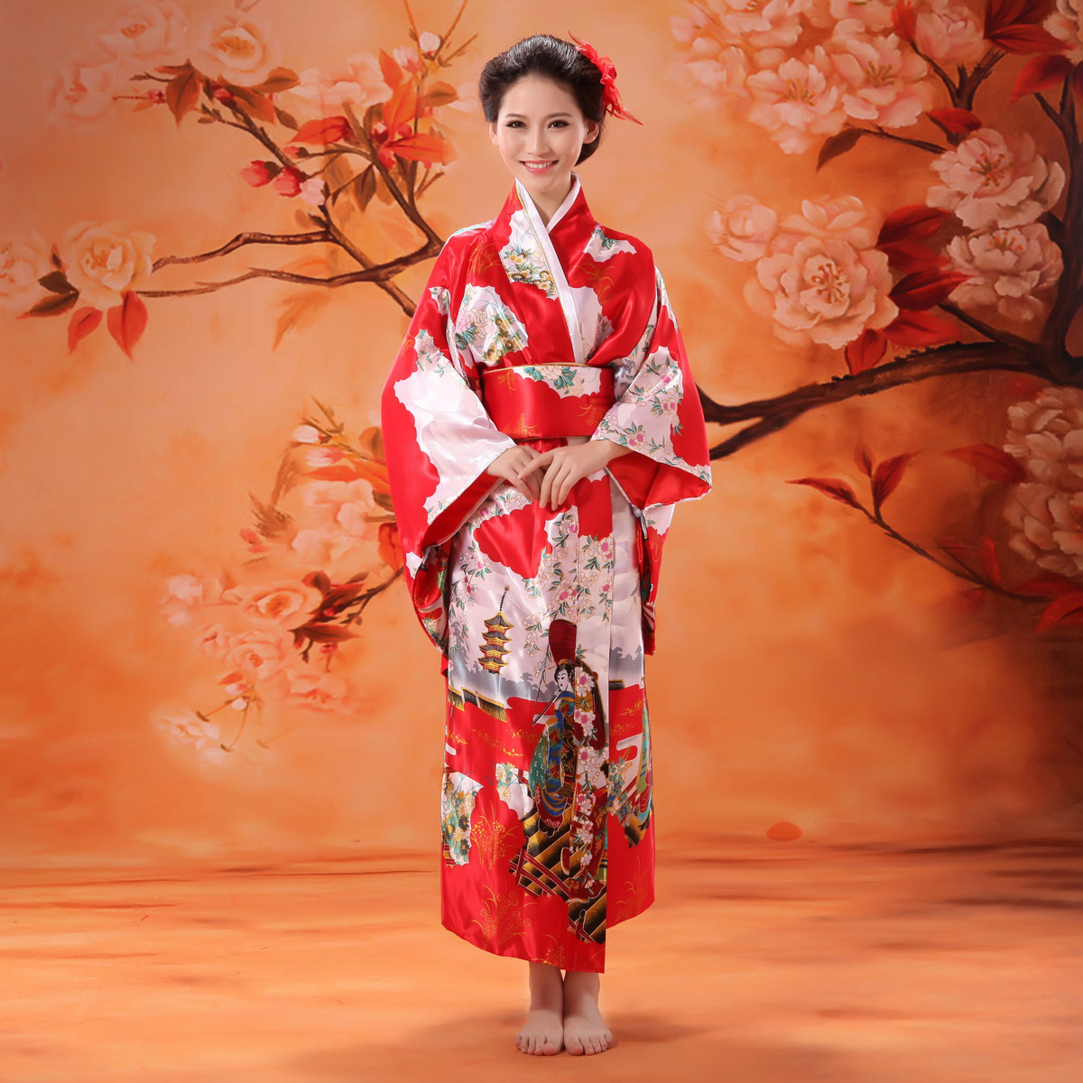 Japanese traditional kimono dress The ancient Japanese ...