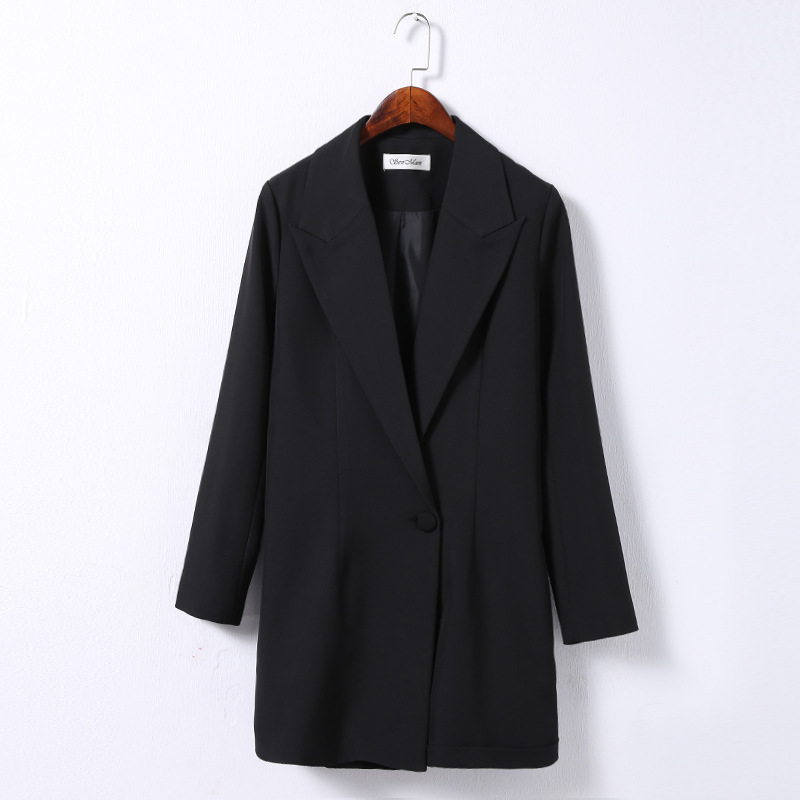 Female Clothes Women Office Ladies Long-sleeved Black Blazer And  Shorts Suit Clothes Set Factory Wholesale