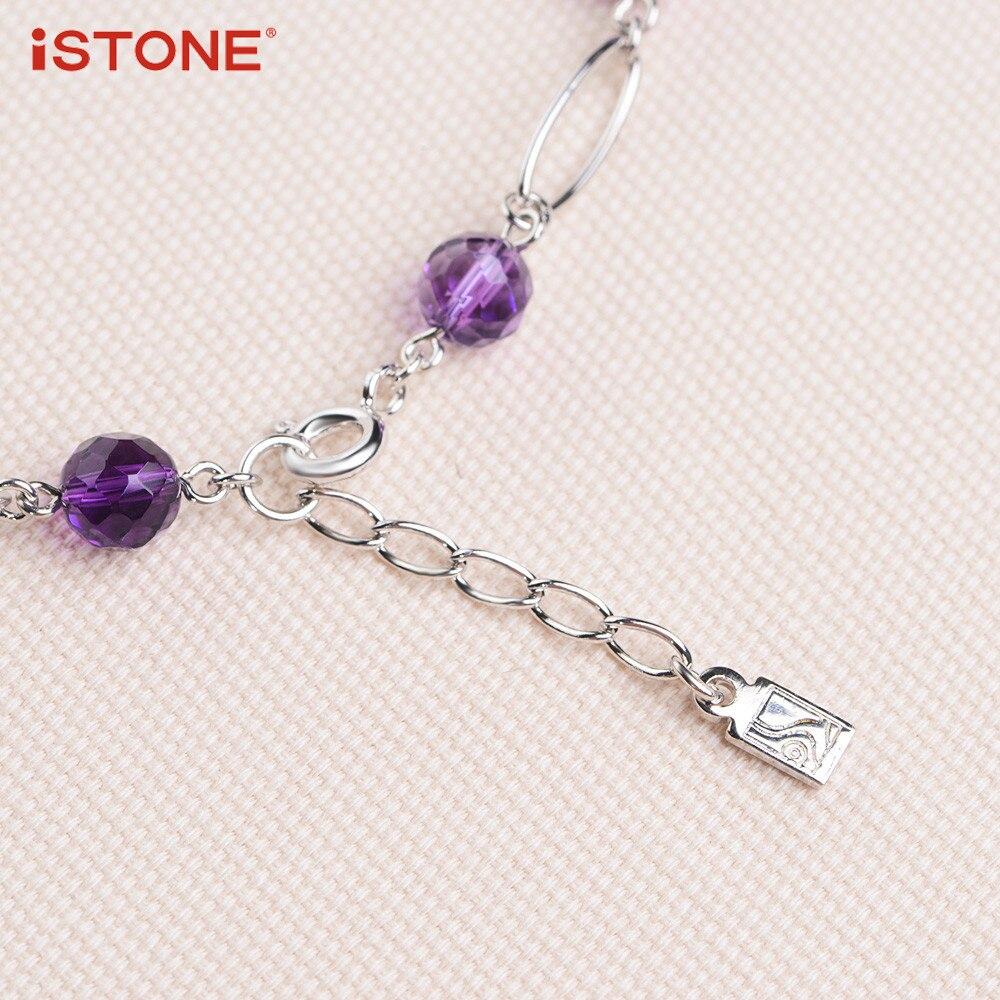 iSTONE 100% բնական Gemstone մանյակ Fine Steel Chain Water - Նուրբ զարդեր - Լուսանկար 5