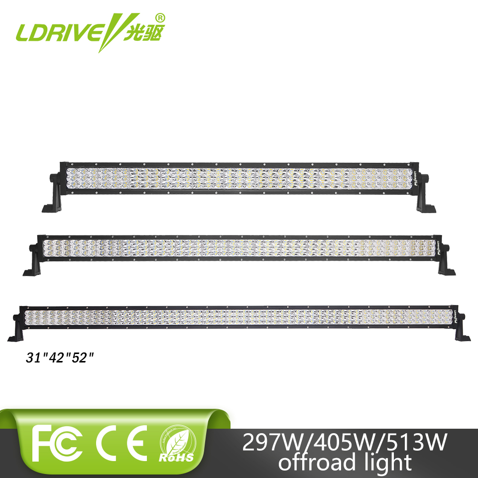 LDRIVE 31 297W 3-row LED Light Bar 42 405W 52 12V Straight Work Light Bar For Offroad 4X4 Boat Truck Trailer 24V Super Bright saints row 4 super dangerous wad wad edition