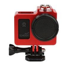 SHOOT En Alliage D'aluminium Étui de protection pour SJCAM SJ4000 WIFI SJ 4000 Plus Boîtier Standard Cage SJ4000 Accessoires