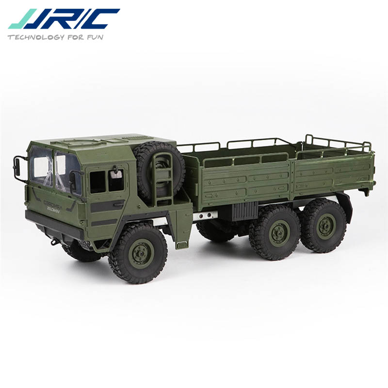 JJRC Q64 1/16 2.4G 6WD Rc Car Military Truck Off road Rock Crawler RTR Toy 6 Wheels Racing Toys For Children Kids Gifts Presents