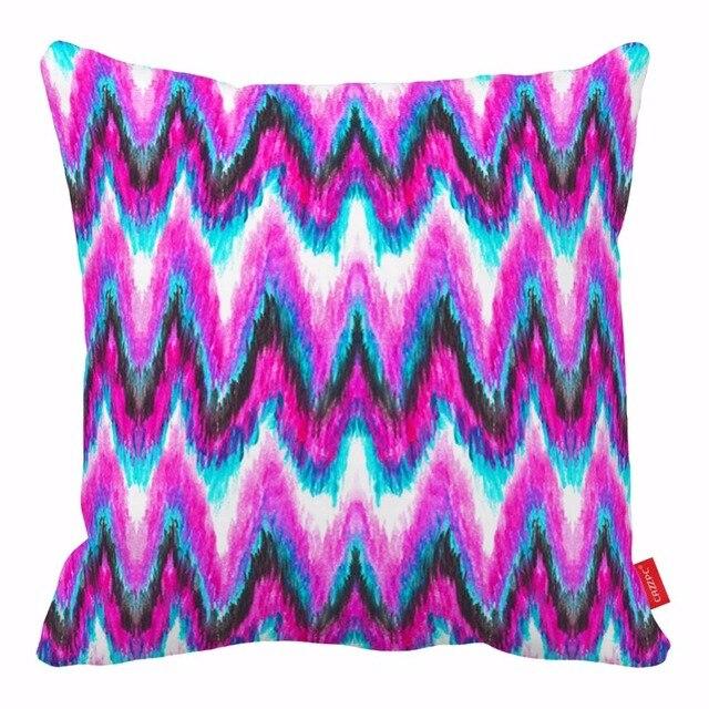 Bright Pink Grant Chevron Aztec Print Decorative Throw Pillows Cases Cushion Covers Car Seat Sofa Chair