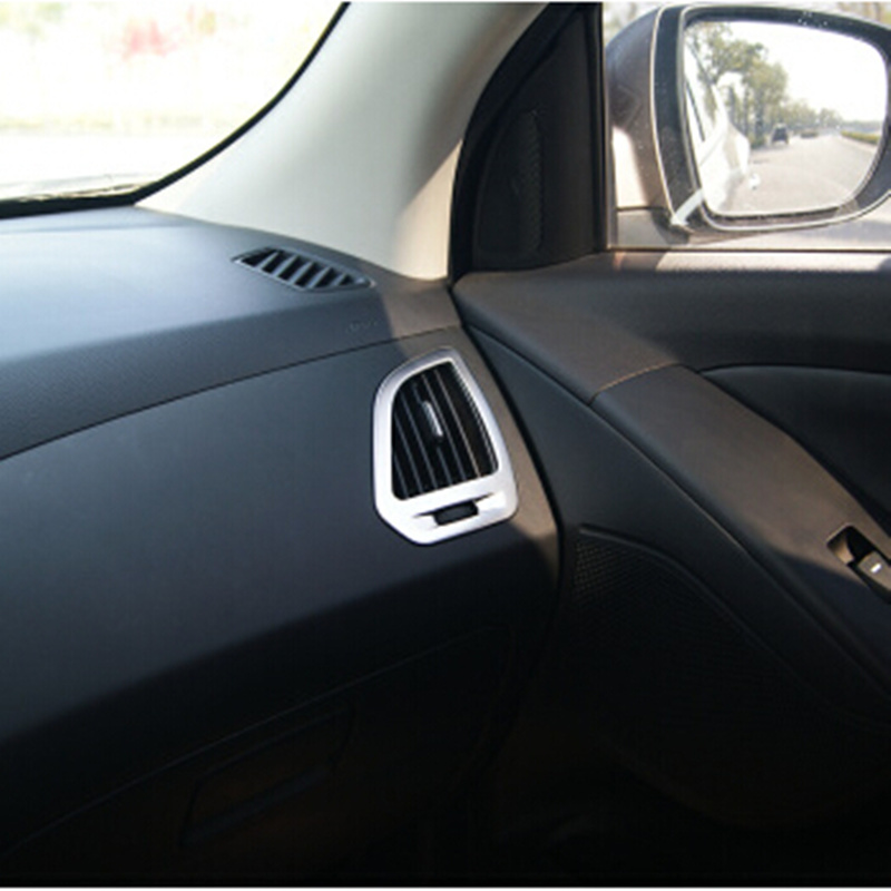Carmilla 2X Car Chrome Interior Air Vent Decoration Sequin Sticker Case for <font><b>Hyundai</b></font> <font><b>IX35</b></font> IX 35 2013 2014 2015 <font><b>Accessories</b></font> image