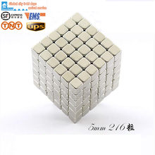 216 stks Mini 5mm Quadratische Magnetische Balls Magnet Block Puzzle Cube Magic NdFeB Neuheit Spielzeug DIY Educational Toys