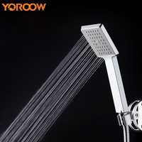 White Square Shower Head Bath High Pressure Portable bidet ABS Plastic Hand shower Rain shower Filter Pressurize Water VS0012