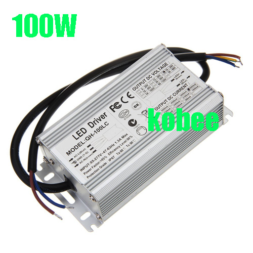 2Pcs 100W AC85 277V LED Driver 6 10x10 3A DC18 34V IP67 Waterproof Constant Current For