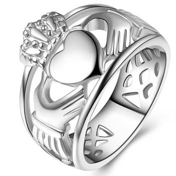 Claddagh Rings Stainless Steel Irish Heat Claddagh Ring