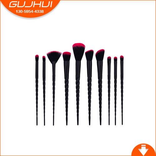 10 Makeup Brush Sets, Beauty Tools, Fan Brush, Foundation Brush, Threaded Unicorn, GUJHUI 7 unicorn makeup brush sets beauty tools new sets sweeping new gujhui rhyme