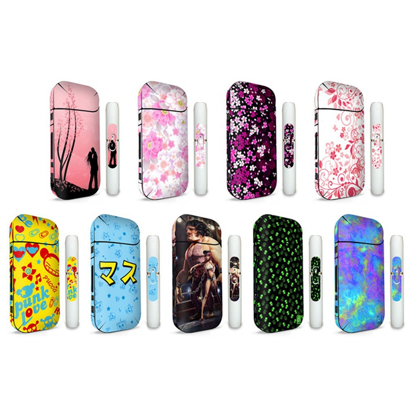 9 Colors Colorful Painting Sticker Case Cover For IQOS 2.4 Plus