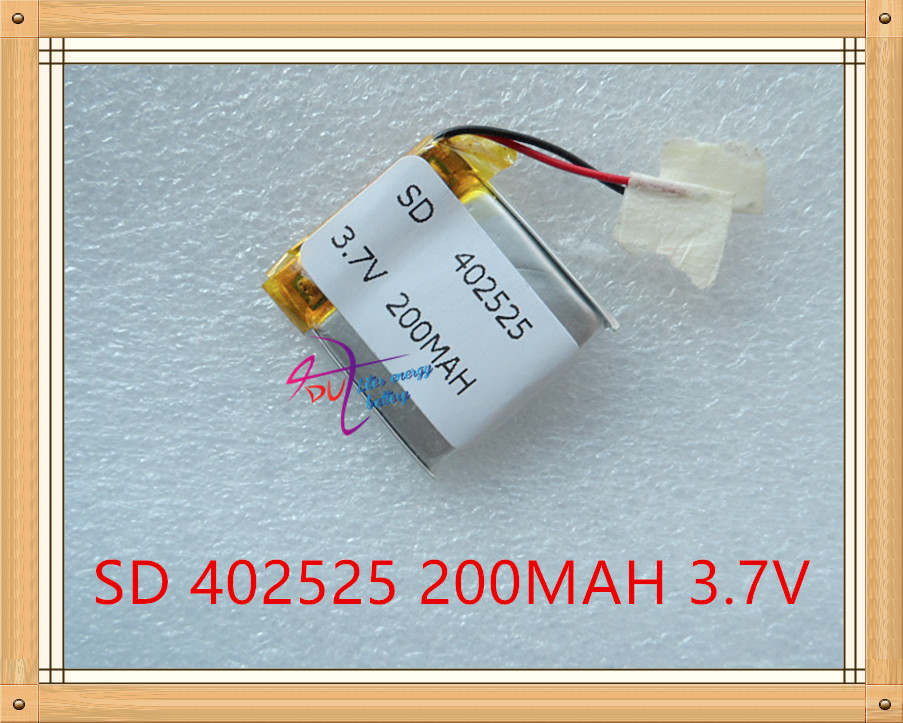 Liter energy battery 3.7V tablet battery <font><b>402525</b></font> 200MAH Bluetooth headset speakers steelmate small toys image