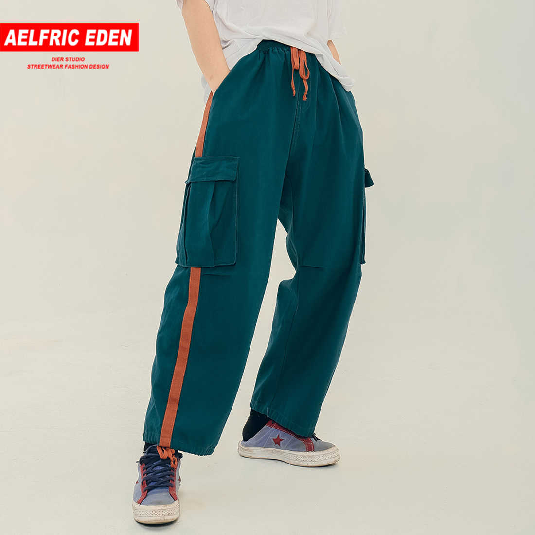 acb74db9b7f1 Aelfric Eden Side Striped Color Patchwork Harem Pants Men 2019 Spring Summer  Fashion Streetwear Casual Trousers