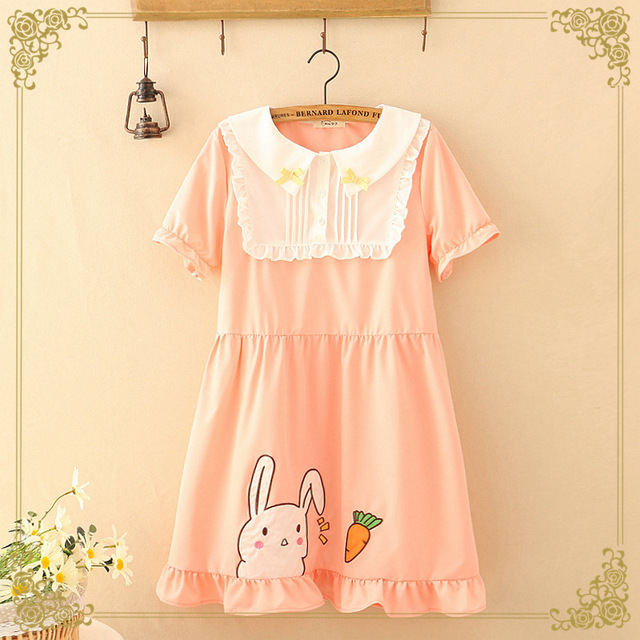 db8d7453c52 Cute Student Cosplay Japanese School Uniform Preppy Look Classic Lolita  Dress Sailor Collar Rabbit Carrot Dress Anime. Price