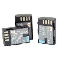 DSTE 3 Pcs 1950 MAh DMW BLF19E Rechargeable Li Ion Battery For Panasonic Lumix DMC GH3