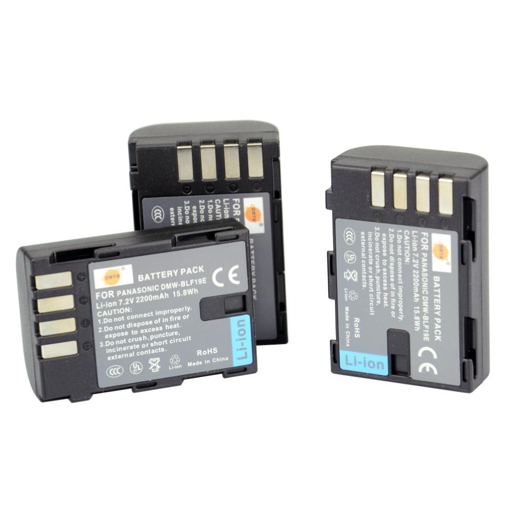 DSTE 3PCS DMW-BLF19E BLF19 Rechargeable Battery for Panasonic Lumix DMC-GH3 DMC-GH4 Camera battery 2 pack charger for panasonic dmw blh7 dmw blh7e dmw blh7 blh7e and lumix dmc gm1 gm5 gf7 dm cgm7 digital camera