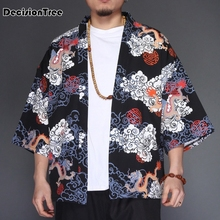 2019 china style men cotton linen cardigan coat trench male loose shawl long kimono windbreaker outwear