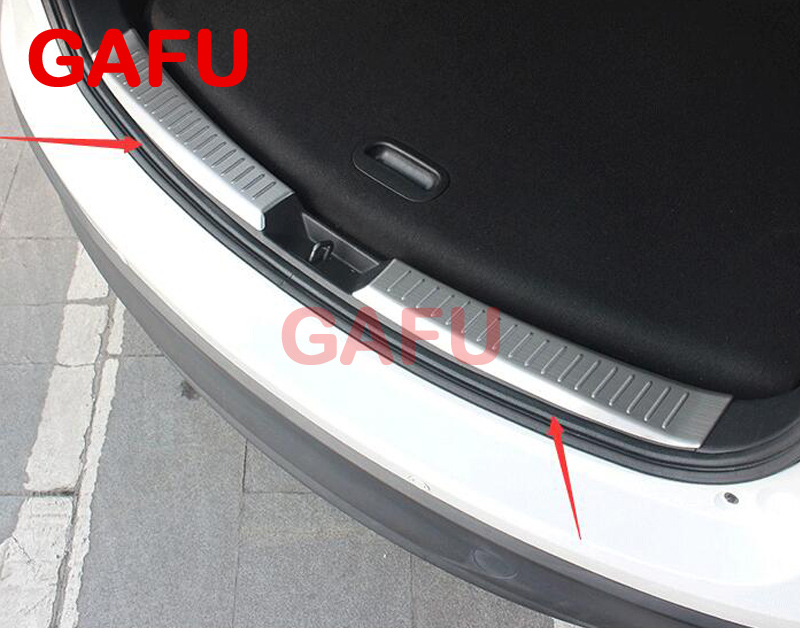 For Mazda CX-5 CX5 2017 2018 Car Rearguards Stainless Steel Rear Bumper Trunk Fender Sill Plate Protector Guard Covers for nissan qashqai j11 2014 2015 2016 stainless steel interior rear trunk bumper sill plate guard pedal protector car accessory page 5