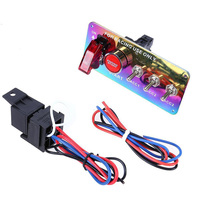 Car 12V Toggle Ignition Switch Panel LED Engine Start Push Button for Boat Bus