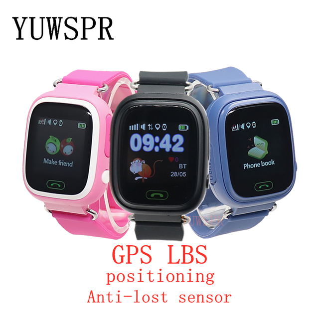 kids GPS Tracker watch GPS LBS location Anti-Lost SOS Call Finder Touch Screen Tracking Safe children Smart watch gift Q90 G72