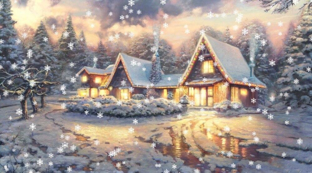 6 Lights Free Shipping Christmas Gift Wall Art Canvas