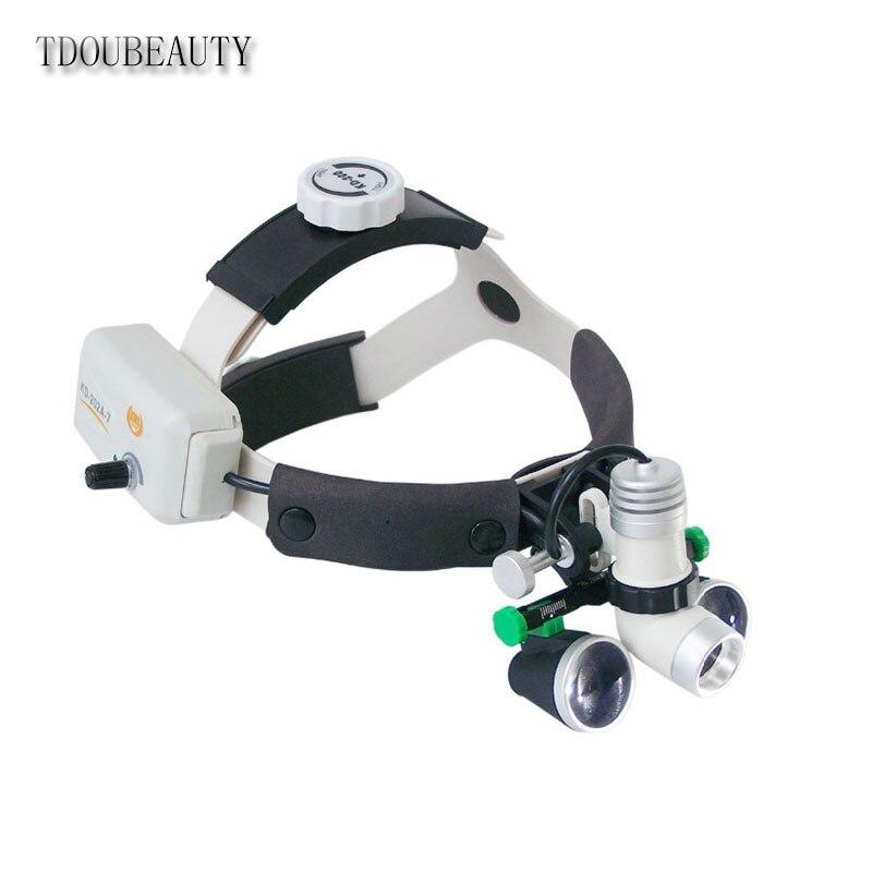 Galileo стоматологические бинокулярные лупы 3.5X 420 мм + KD 202A 7 3 Вт беспроводной LED ENT/хирургический/6 часов работы полностью водонепроницаемый