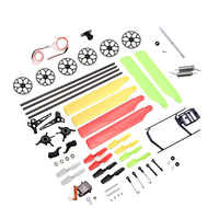Tool Kit Bag - Gears Main Rotor Blades Tail Boom Motor Swashplate Servo Head Linkage Wire Spare Parts For Wltoys V966 V977
