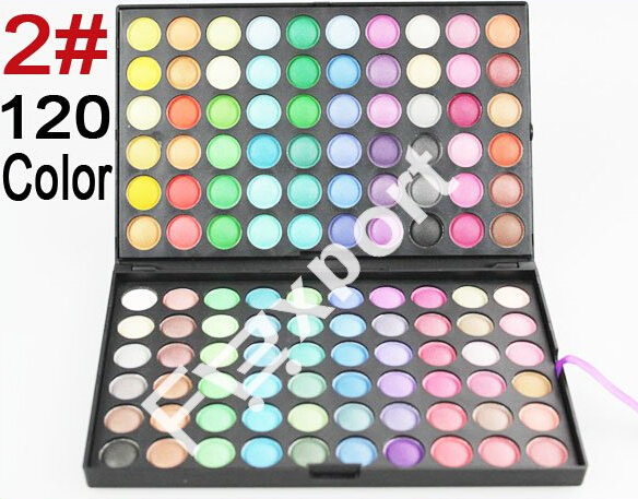 120 Color Eyeshadow 2# Cosmetics Mineral Make Up Makeup Eye Shadow Palette Kit