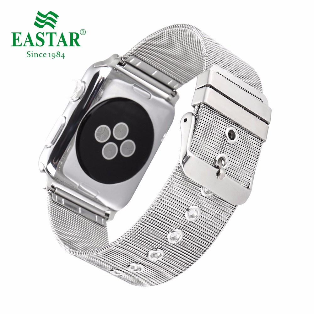 Eastar Milanese Watch Strap for Apple Series 3/2/1 Stainless Steel Watchband Classic Buckle 42 mm 38 mm Strap For iwatch Band eastar milanese loop stainless steel watchband for apple watch series 3 2 1 double buckle 42 mm 38 mm strap for iwatch band