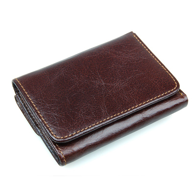 New RFID Blocking Genuine Leather Men Wallets Bifold Wallet with Coin Pocket Cowhide Man Purse Card Holder High Quality #MDJ8106 2017 new cowhide genuine leather men wallets fashion purse with card holder hight quality vintage short wallet clutch wrist bag