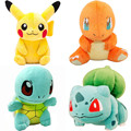 13cm-15cm Pikachu Bulbasaur Charmander Squirtle Pokeball Plush Toy Figures Toys Banpresto climb Soft Stuffed Anime Cartoon Dolls