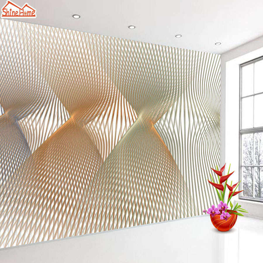 ShineHome-Abstract Line Space Wallpaper for Rooms 3d Photo Wallpaper for Walls 3 d  Living Room Wallpapers Wall Mural Rolls shinehome butterfly nordic wall picture wallpapers 3d wallpaper for walls 3 d living room wall paper wallpaper murals roll art