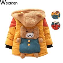 On Sale 2016 New Baby Boys Winter Jacket Coat Baby Clothes Panda Cartoon Bear Infant Baby Girls Outerwear Coat Kids Down Coat