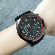 Finda Men's Quartz Watches Analog Date Leather Clock Man Army Military Wrist Watch Luxury Brand Men Sport Wristwatches 2017