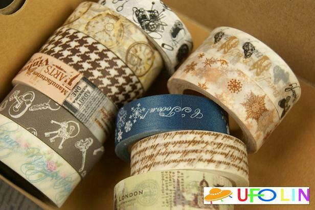A30-155  New High quality European vintage series paper tape/ adhesive tape