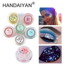 HANDAIYAN 2018 New Glitter Eyeshadow Shimmer Hybrid Sequins Face Eye Shadow Shiny Body Highlighter Women Beauty Makeup