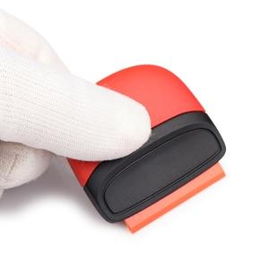 Image 5 - FOSHIO vinil araç örtüsü pencere tonu tutkal şerit etiket çıkarıcı Razor kazıyıcı + 10 adet tıraş bıçağı seramik cam fırın temiz silecek