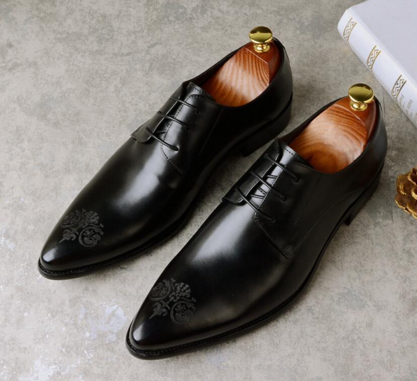 JOZIGBEMA العلامة التجارية الايطالية أحذية رجالي رسمية جلد طبيعي مريحة عالية الجودة الزفاف الأحذية الذكور-في أحذية رسمية من أحذية على  مجموعة 3
