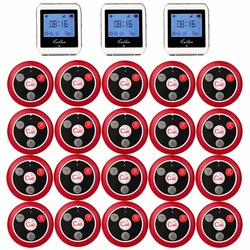 RETEKESS Беспроводной вызова официанта Системы для ресторана Услуги пейджер Системы гость пейджер 3 смотреть приемник + 20 кнопку вызова F3288B