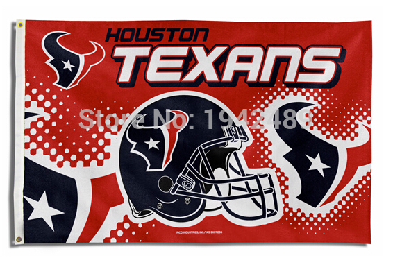Free shipping NFL Houston Texans flag helmet banner 3x5FT Digital Print Version 100D sports decoration
