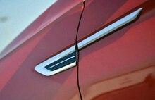 Для Volkswagen Tiguan 2016 2017 2018 (2nd gen) ABS хром автомобиль Сторона крыла Fender Воздушный руководство Vent Рамки отделкой Стикеры