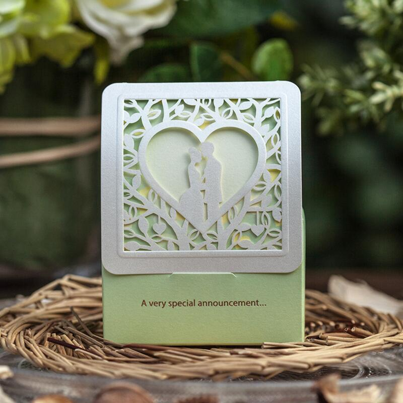 30pcs/pack Free Shipping Green Love Tree Laser Cut Wedding Favor Candy Box Casamento Wedding Favor Thanks Gift Candy Box